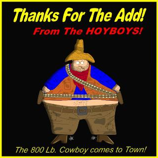 Fat Cowboy Cartoon